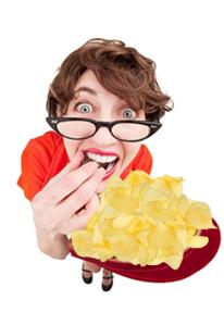 Manger des chips rend Con