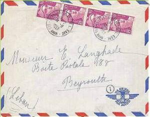 lettre par avion